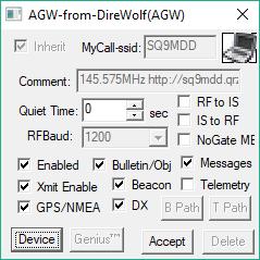 konfiguracja portu agw